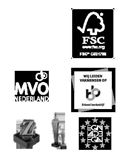 Certificaten ISO - FSC - MVO en Gouden-Z - Business en EGIN Awards